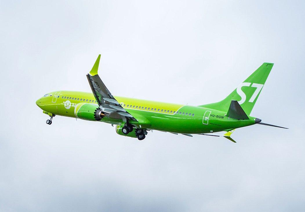 Первый в России Boeing 737 MAX — уже в парке S7 Airlines