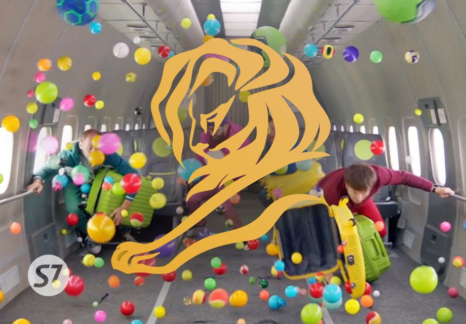 S7 Airlines receives the gold award of the Cannes Lions Festival