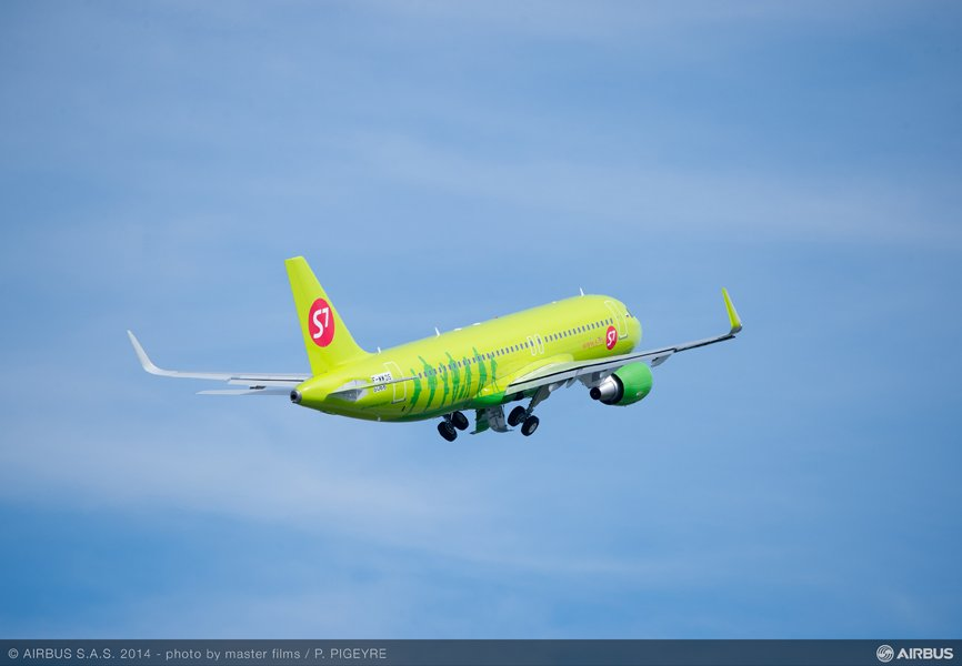 S7 Airlines obtained a new Airbus A320