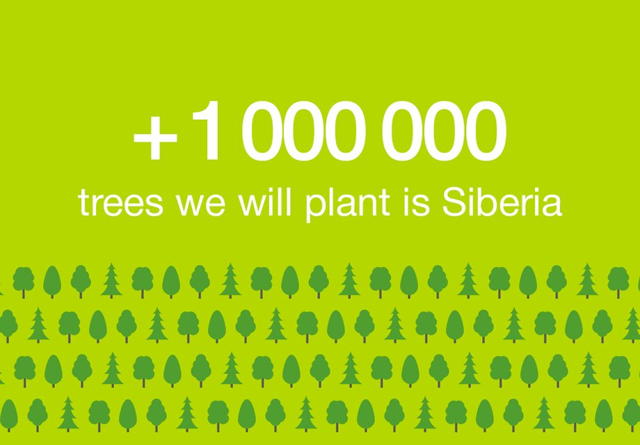 S7 Airlines has completed the fundraising for planting 1,000,000 trees in Siberia
