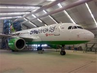 Второй лайнер в раскраске <strong>one</strong>world в парке S7&nbsp;Airlines