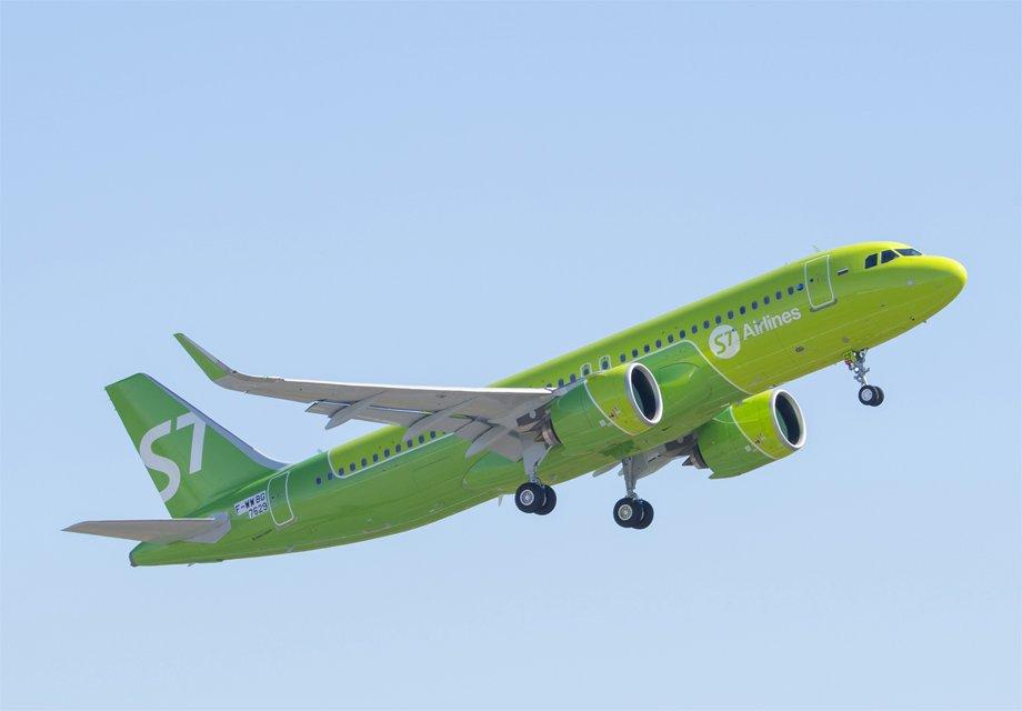S7Airlines увеличила перевозки пассажиров на7,5%